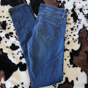 Express super skinny jeans 6 long mid rise